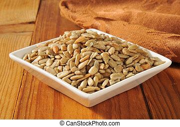 Salted sunfower seeds