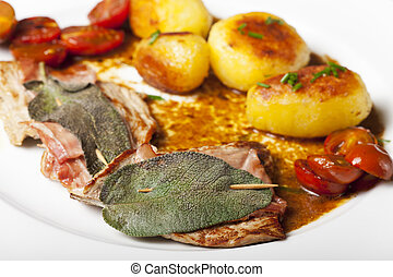 saltimbocca ala romana veal cutlet with sage