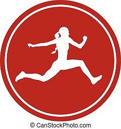 salto, atleta, triplo, femininas, ícone