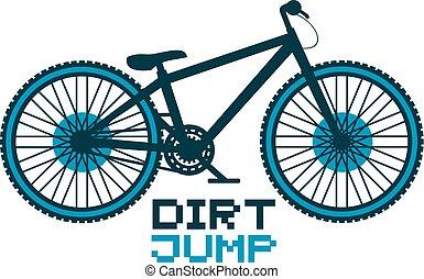salto, bicicletta, sporcizia