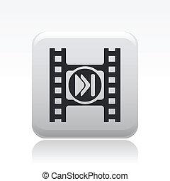 salto, bottone, vettore, video, illustrazione
