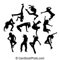 salto cadera, bailando