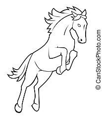 salto, cavallo