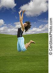 salto, de, felicidade
