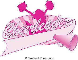 salto, desenho, cheerleader