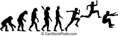 salto, evolución, dreisprung, triple