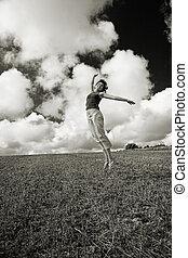salto, felicidad
