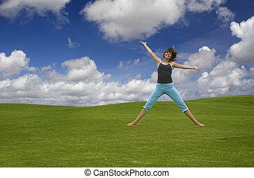 salto, felicidade