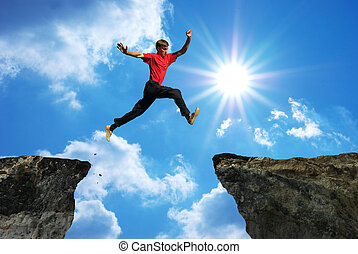 salto, homem