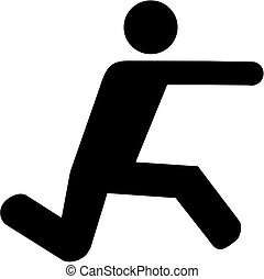 salto, longo, pictograma