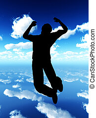 salto, para, vida