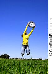 salto, relógio