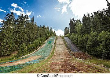 salto, verão, esqui