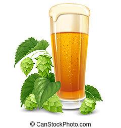 saltos, vidrio, cerveza