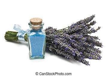 salts., lavendel, bad