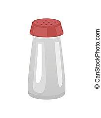 Saltshaker Salt in Container Vector Illustration -...