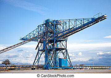 saltworks - manufactured by drying and storage of salt