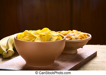 Salty and Sweet Plantain Chips
