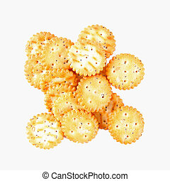 salty cookies isolated on a white background