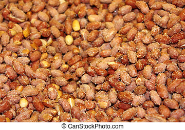 Salty peanuts  background - horizontal