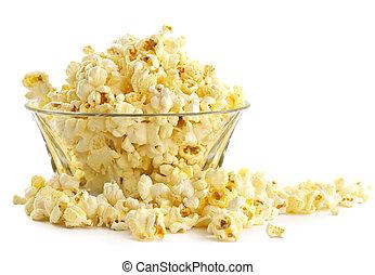 Salty popcorn-fine addition to rest at a cinema