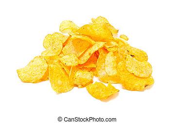 salty potato chips