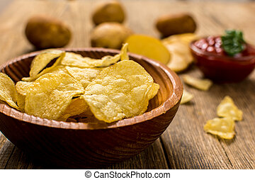 Salty potato chips