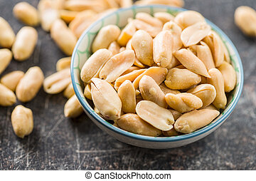 Salty roasted peanuts.