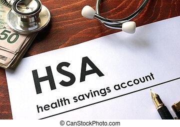 salud, ahorros, (hsa), cuenta