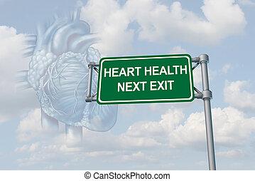 salud corazón, humano, cuidado