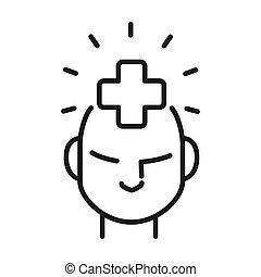 salud, diseño, mental, ilustración