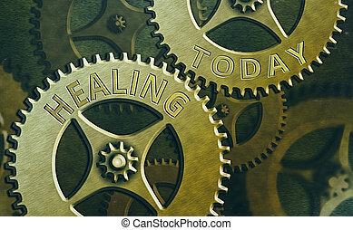 salud, empresa / negocio, texto, healing., proceso, ...