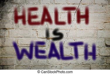 salud, es, riqueza, concepto