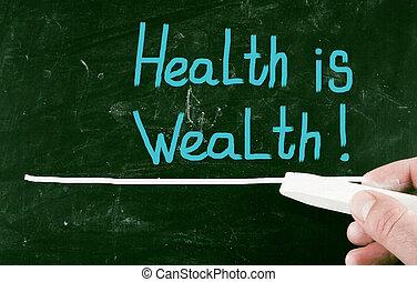 salud, es, wealth!