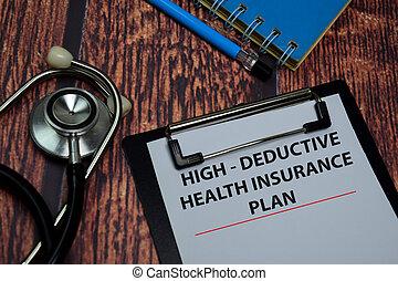 salud, escribir, papeleo, régimen de seguros, aislado, alto...