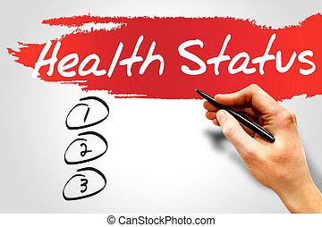 salud, estado