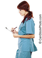 salud femenina, cuidado, trabajador