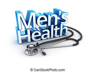 salud hombres, texto, medicina, 3d, concepto