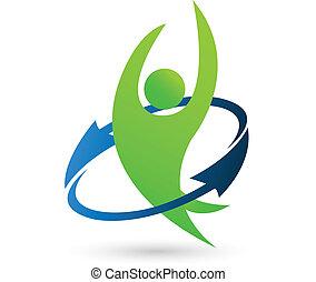 salud, naturaleza, logotipo