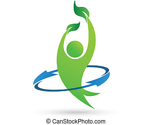 salud, naturaleza, vector, logotipo