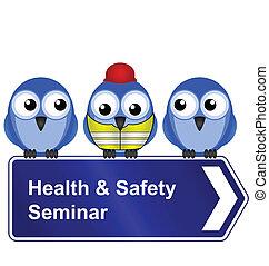 salud, seguridad, seminario, señal