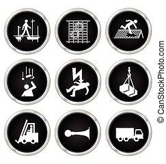 salud y seguridad, iconos