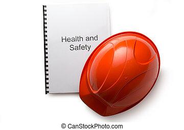 salud y seguridad, registro, con, casco