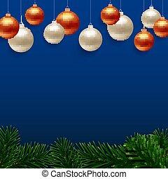 saludo, fondo., vector, feliz navidad, tarjeta