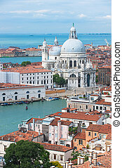 saludo, italia, venecia, santa, della, maria