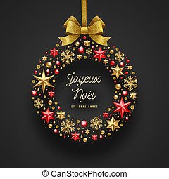 saludos, french., navidad, noel, joyeux, -
