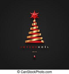 saludos, navidad, noel, joyeux, -, francés