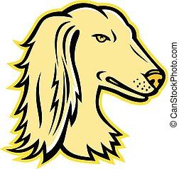 Saluki-Dog -HEAD MASCOT