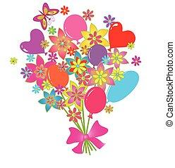 salutation, bouquet