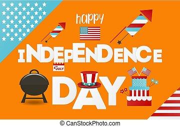 salutation, card., jour indépendance